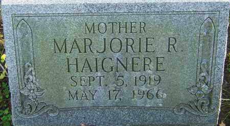 HAIGNERE, MARJORIE - Franklin County, Ohio   MARJORIE HAIGNERE - Ohio Gravestone Photos