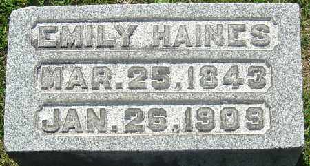 HAINES, EMILY - Franklin County, Ohio | EMILY HAINES - Ohio Gravestone Photos
