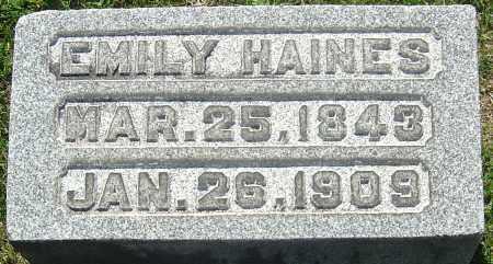 ALKIRE HAINES, EMILY - Franklin County, Ohio | EMILY ALKIRE HAINES - Ohio Gravestone Photos