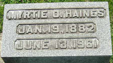 HAINES, MYRTIE O - Franklin County, Ohio | MYRTIE O HAINES - Ohio Gravestone Photos