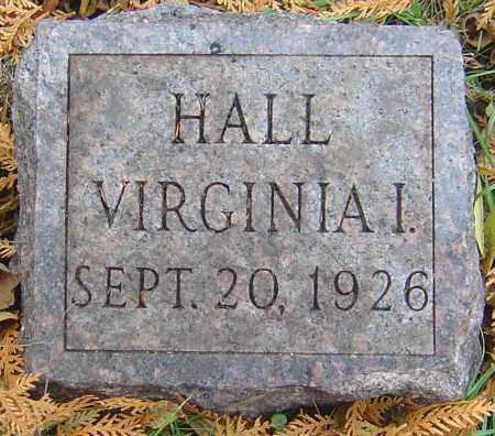 HALL, VIRGINIA I - Franklin County, Ohio | VIRGINIA I HALL - Ohio Gravestone Photos