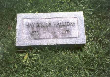 BRUCK HALLIDAY, MAY - Franklin County, Ohio | MAY BRUCK HALLIDAY - Ohio Gravestone Photos