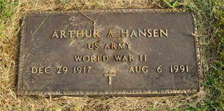 HANSEN, ARTHUR A. - Franklin County, Ohio | ARTHUR A. HANSEN - Ohio Gravestone Photos