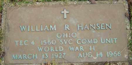HANSEN, WILLIAM R - Franklin County, Ohio   WILLIAM R HANSEN - Ohio Gravestone Photos