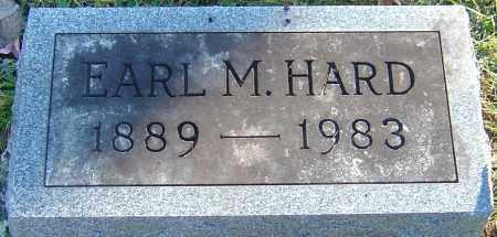 HARD, EARL MARION - Franklin County, Ohio   EARL MARION HARD - Ohio Gravestone Photos