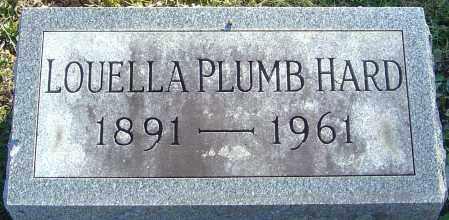 PLUMB HARD, LOUELLA - Franklin County, Ohio | LOUELLA PLUMB HARD - Ohio Gravestone Photos