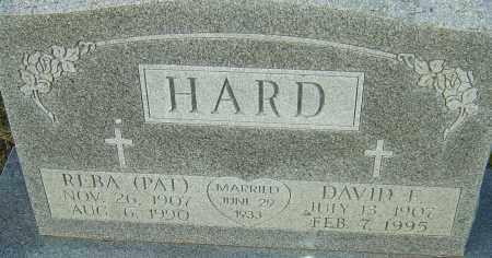 HARD, REBA - Franklin County, Ohio   REBA HARD - Ohio Gravestone Photos