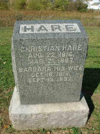 HARE, BARBARA - Franklin County, Ohio | BARBARA HARE - Ohio Gravestone Photos
