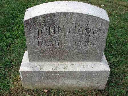 HARE, JOHN - Franklin County, Ohio   JOHN HARE - Ohio Gravestone Photos