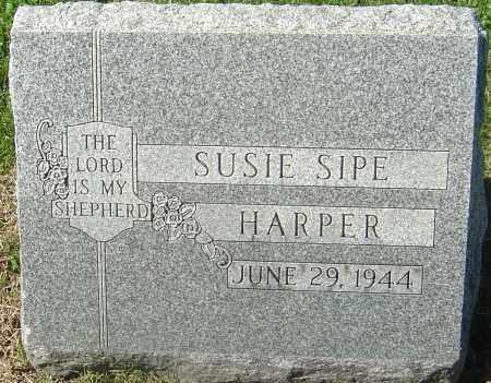 BAUGHER HARPER, SUSIE SIPE - Franklin County, Ohio | SUSIE SIPE BAUGHER HARPER - Ohio Gravestone Photos