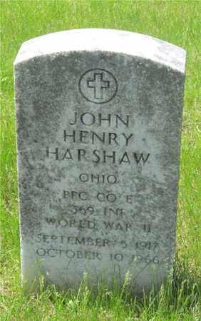 HARSHAW, JOHN HENRY - Franklin County, Ohio   JOHN HENRY HARSHAW - Ohio Gravestone Photos