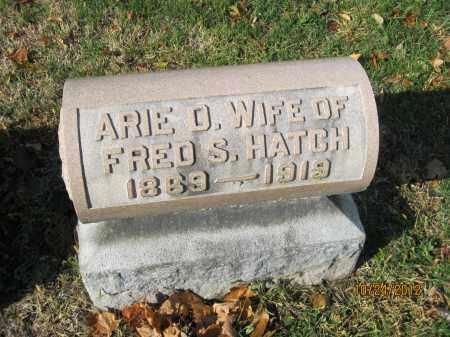 ROBERTS HATCH, ARIE D - Franklin County, Ohio | ARIE D ROBERTS HATCH - Ohio Gravestone Photos