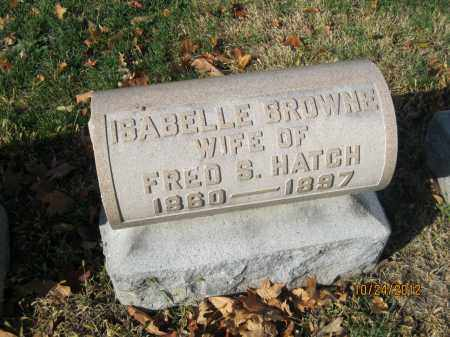 HATCH, ISABELLE BROWNE - Franklin County, Ohio   ISABELLE BROWNE HATCH - Ohio Gravestone Photos