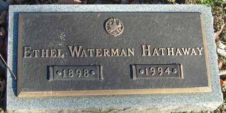 WATERMAN HATHAWAY, ETHEL - Franklin County, Ohio | ETHEL WATERMAN HATHAWAY - Ohio Gravestone Photos