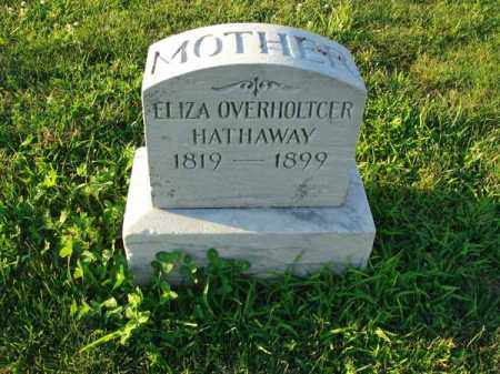 OVERHOLTCER HATHAWAY, ELIZA - Franklin County, Ohio | ELIZA OVERHOLTCER HATHAWAY - Ohio Gravestone Photos
