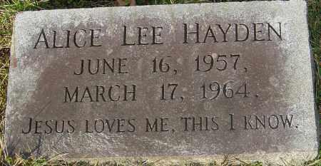 HAYDEN, ALICE LEE - Franklin County, Ohio | ALICE LEE HAYDEN - Ohio Gravestone Photos