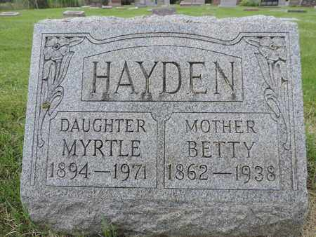 HAYDEN, BETTY - Franklin County, Ohio | BETTY HAYDEN - Ohio Gravestone Photos
