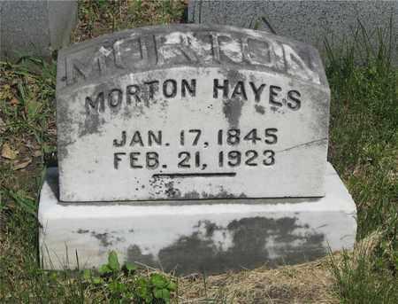 HAYES, MORTON - Franklin County, Ohio | MORTON HAYES - Ohio Gravestone Photos