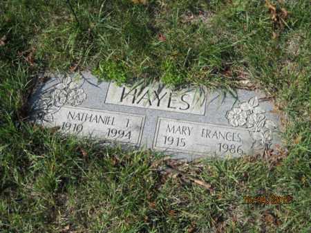 HAYES, MARY FRANCES - Franklin County, Ohio | MARY FRANCES HAYES - Ohio Gravestone Photos