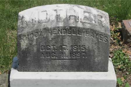 WENDELL HAYES, RHODA - Franklin County, Ohio | RHODA WENDELL HAYES - Ohio Gravestone Photos