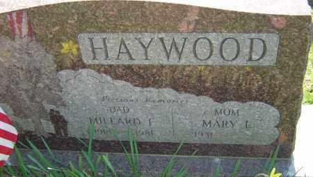 HAYWOOD, MILLARD F - Franklin County, Ohio | MILLARD F HAYWOOD - Ohio Gravestone Photos