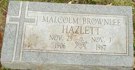 HAZLETT, MALCOLM - Franklin County, Ohio   MALCOLM HAZLETT - Ohio Gravestone Photos