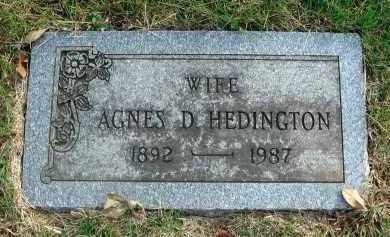 HEDINGTON, AGNES D. - Franklin County, Ohio   AGNES D. HEDINGTON - Ohio Gravestone Photos