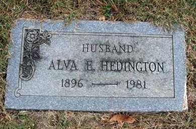 HEDINGTON, ALVA E. - Franklin County, Ohio | ALVA E. HEDINGTON - Ohio Gravestone Photos