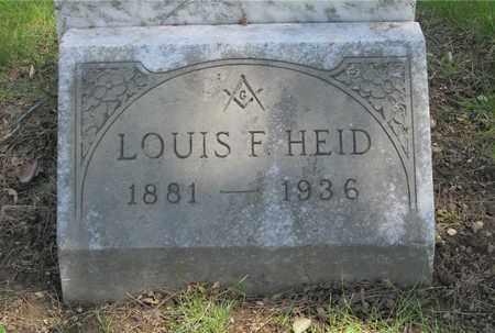 HEID, LOUIS F. - Franklin County, Ohio | LOUIS F. HEID - Ohio Gravestone Photos