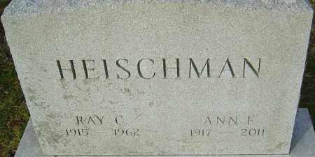 FRANCY HEISCHMAN, ANN - Franklin County, Ohio | ANN FRANCY HEISCHMAN - Ohio Gravestone Photos