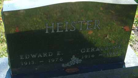 HEISTER, EDWARD E - Franklin County, Ohio | EDWARD E HEISTER - Ohio Gravestone Photos