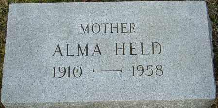 HELD, ALMA - Franklin County, Ohio | ALMA HELD - Ohio Gravestone Photos