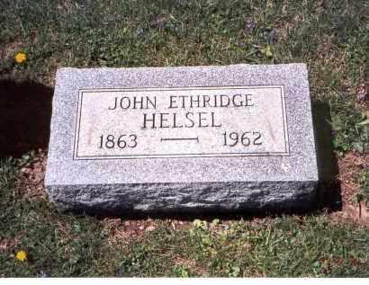 HELSEL, JOHN ETHRIDGE - Franklin County, Ohio | JOHN ETHRIDGE HELSEL - Ohio Gravestone Photos
