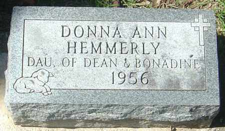 HEMMERLY, DONNA ANN - Franklin County, Ohio | DONNA ANN HEMMERLY - Ohio Gravestone Photos