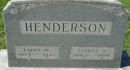 DEUFENDERFER HENDERSON, EMMA MARY - Franklin County, Ohio | EMMA MARY DEUFENDERFER HENDERSON - Ohio Gravestone Photos