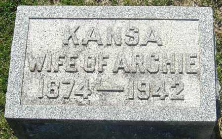 "KELSO HENDRICKSON, KANSADA ""KANSA"" - Franklin County, Ohio | KANSADA ""KANSA"" KELSO HENDRICKSON - Ohio Gravestone Photos"