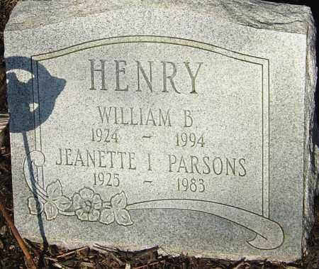 PARSONS HENRY, JEANNETTE - Franklin County, Ohio | JEANNETTE PARSONS HENRY - Ohio Gravestone Photos