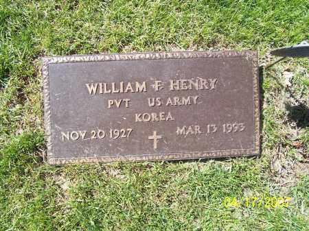 HENRY, WILLIAM F - Franklin County, Ohio | WILLIAM F HENRY - Ohio Gravestone Photos