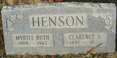 HENSON, CLARENCE A - Franklin County, Ohio | CLARENCE A HENSON - Ohio Gravestone Photos