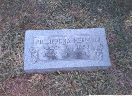 HEPNER, PHILIPBENA - Franklin County, Ohio | PHILIPBENA HEPNER - Ohio Gravestone Photos