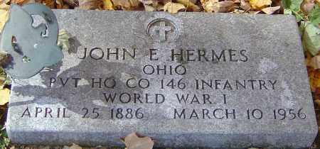 HERMES, JOHN E - Franklin County, Ohio | JOHN E HERMES - Ohio Gravestone Photos