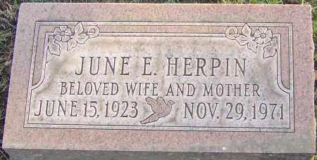 HERPIN, JUNE - Franklin County, Ohio   JUNE HERPIN - Ohio Gravestone Photos