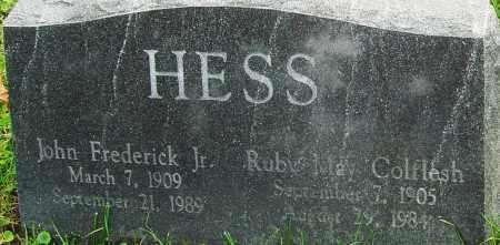 COLFLESH HESS, RUBY - Franklin County, Ohio   RUBY COLFLESH HESS - Ohio Gravestone Photos