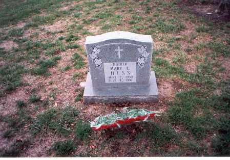 HESS, MARY E. - Franklin County, Ohio | MARY E. HESS - Ohio Gravestone Photos