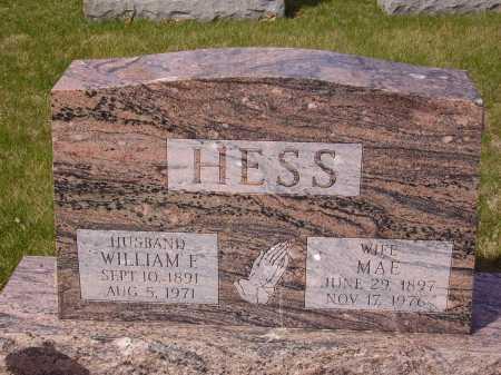 HESS, MAE - Franklin County, Ohio | MAE HESS - Ohio Gravestone Photos
