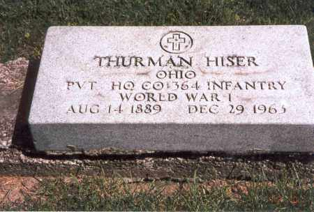 HISER, THURMAN - Franklin County, Ohio | THURMAN HISER - Ohio Gravestone Photos