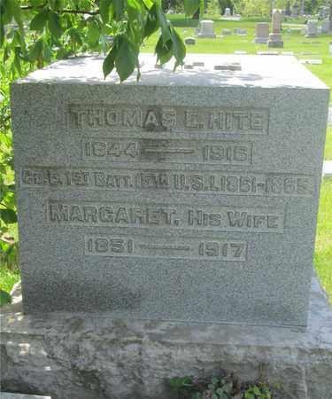 HITE, THOMAS E. - Franklin County, Ohio | THOMAS E. HITE - Ohio Gravestone Photos