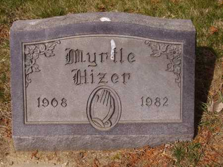 HIZER, MYRTLE - Franklin County, Ohio | MYRTLE HIZER - Ohio Gravestone Photos