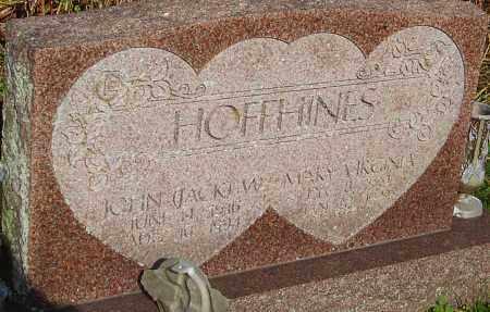 HOFFHINES, JOHN - Franklin County, Ohio | JOHN HOFFHINES - Ohio Gravestone Photos