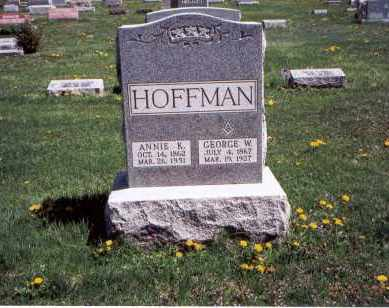 HOFFMAN, GEORGE W. - Franklin County, Ohio | GEORGE W. HOFFMAN - Ohio Gravestone Photos